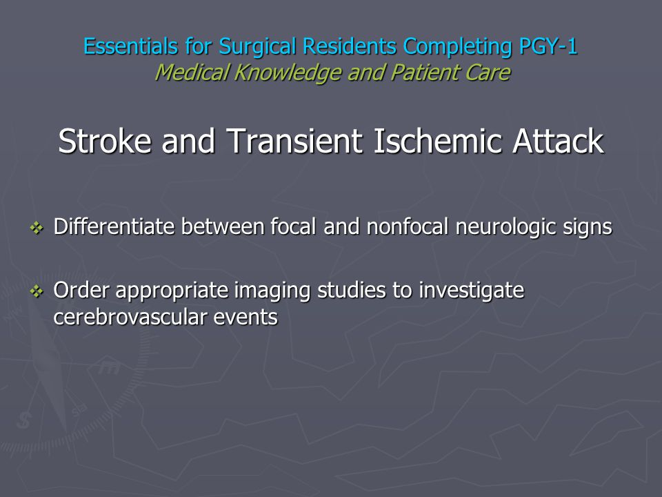 Stroke and Transient Ischemic Attack