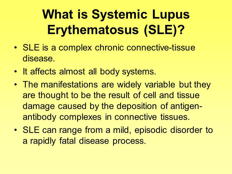 What is Systemic Lupus Erythematosus (SLE)