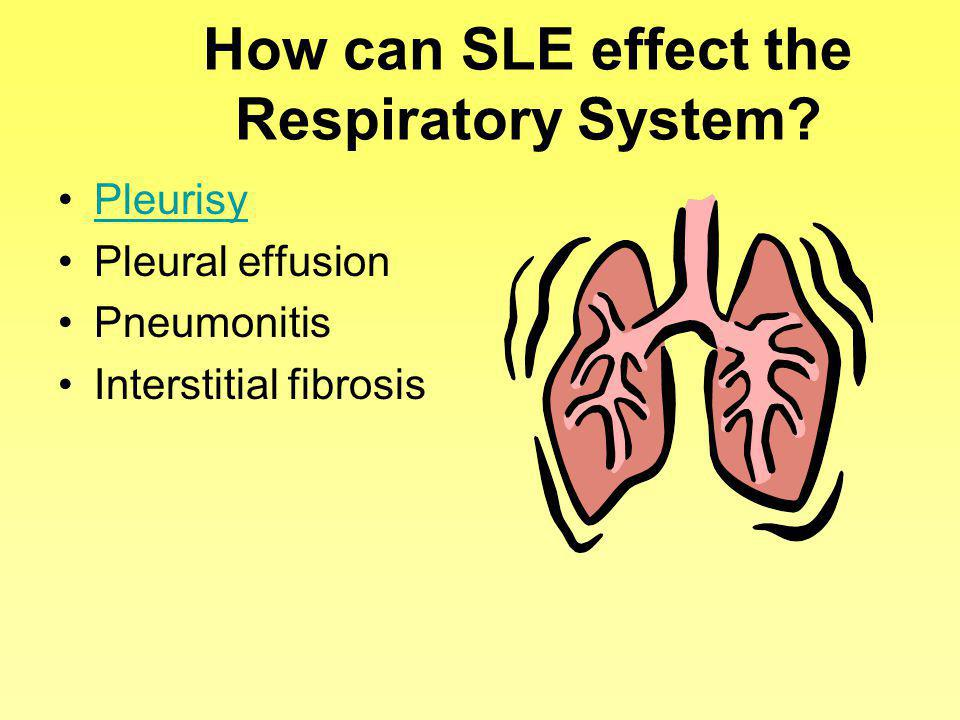 How can SLE effect the Respiratory System