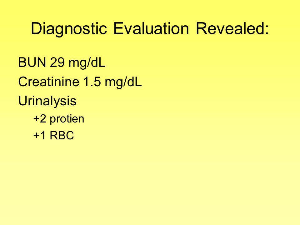 Diagnostic Evaluation Revealed: