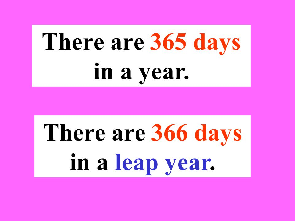 There are 366 days in a leap year.