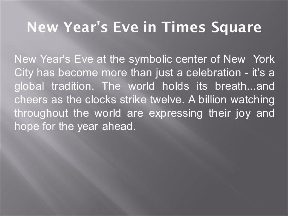 New Year s Eve in Times Square