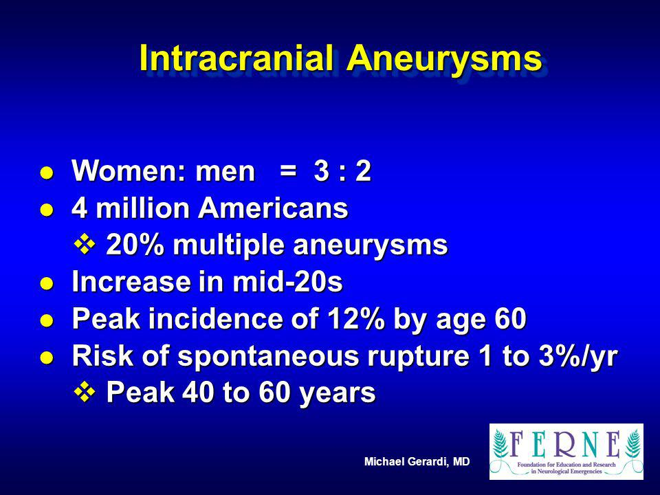 Intracranial Aneurysms