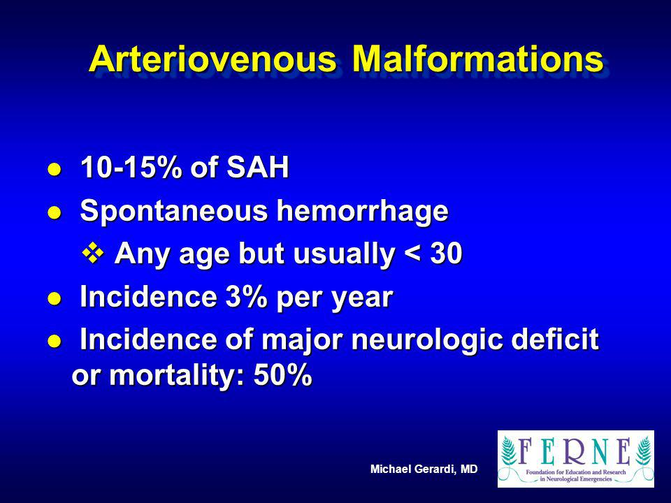 Arteriovenous Malformations