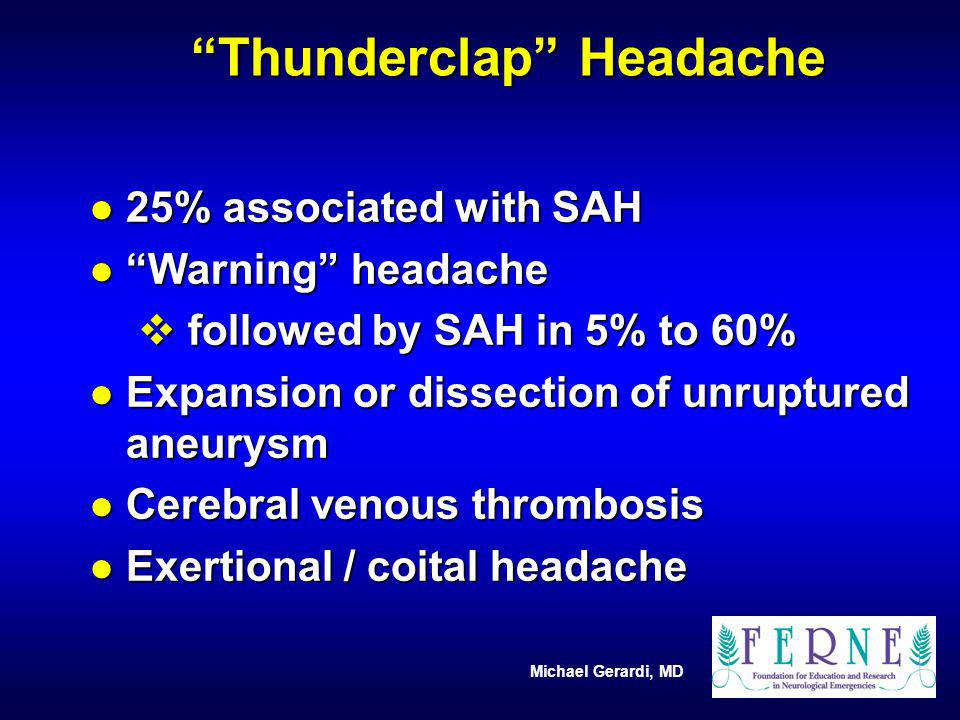 Thunderclap Headache