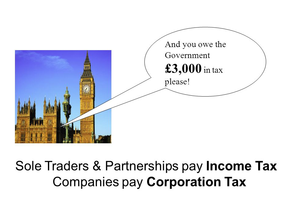 Sole Traders & Partnerships pay Income Tax