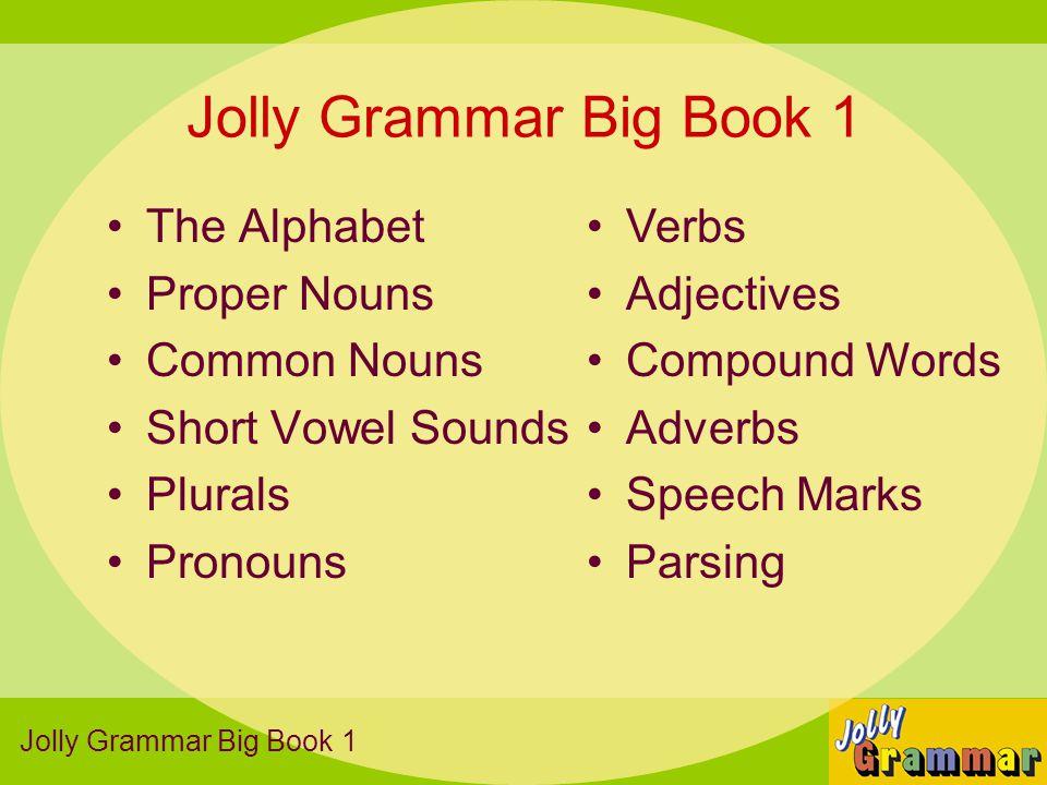 Jolly Grammar Big Book 1 The Alphabet Proper Nouns Common Nouns