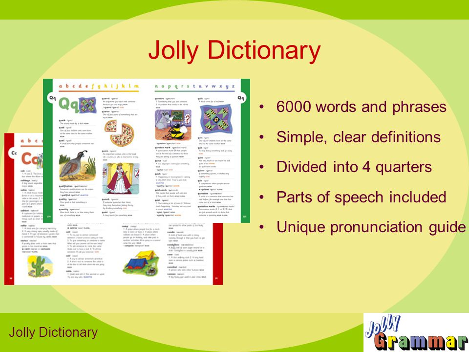 Jolly Dictionary 6000 words and phrases Simple, clear definitions