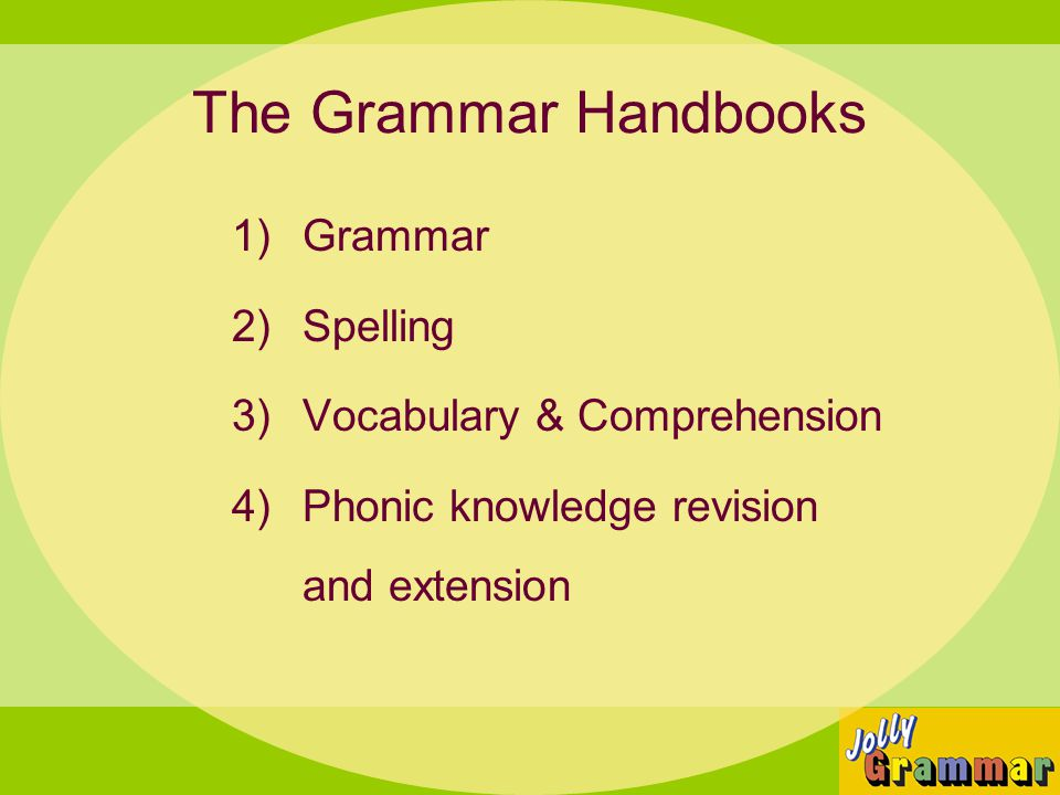The Grammar Handbooks Grammar Spelling Vocabulary & Comprehension