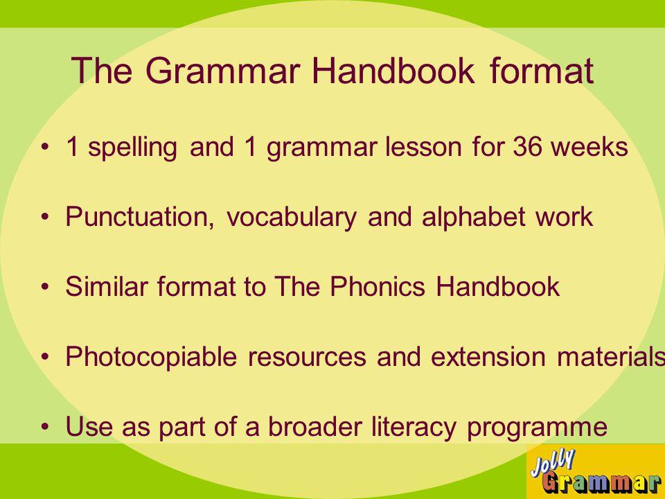 The Grammar Handbook format