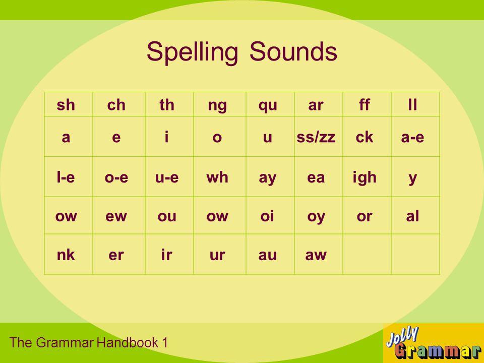 Spelling Sounds sh ch th ng qu ar ff ll a e i o u ss/zz ck a-e I-e o-e