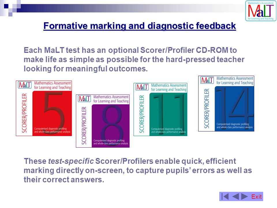 Formative marking and diagnostic feedback