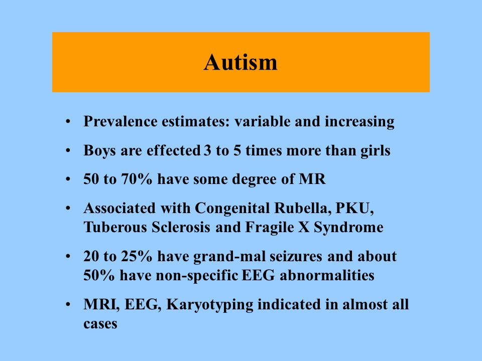 Autism Prevalence estimates: variable and increasing