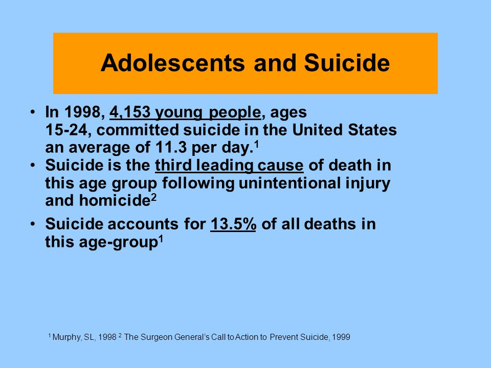 Adolescents and Suicide