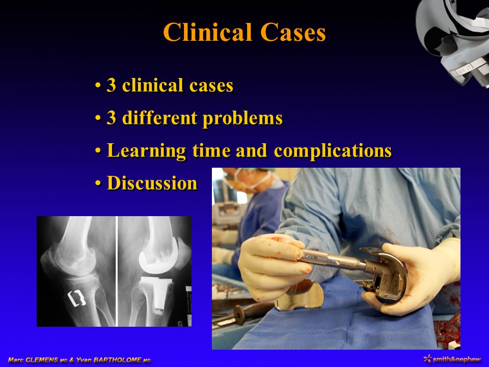 Clinical Cases 3 clinical cases 3 different problems
