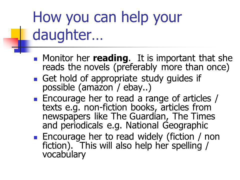 How you can help your daughter…