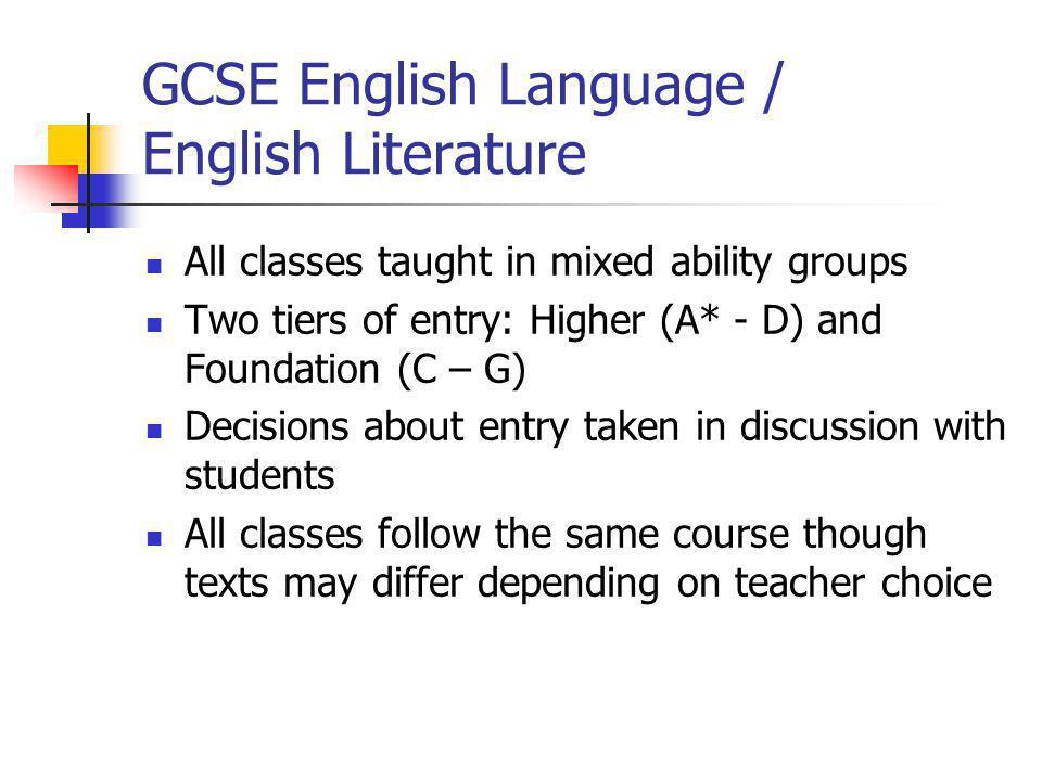 GCSE English Language / English Literature