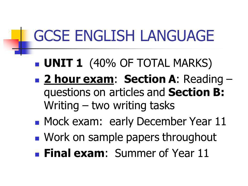 english language unit 2 functional writing The wjec eduqas gcse in english language builds on there is a slightly heavier weighting on the non-fiction reading and writing in component 2 than on the.