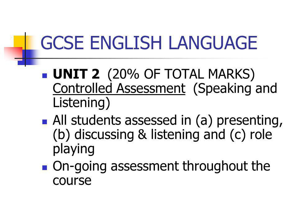 english assessment and marks Score, grade or mark discussion in 'english only' started by ch01_kelly it's interesting that all the english speakers who have discussed marks are be speakers a general assessment based to an extent on subjective assessment.