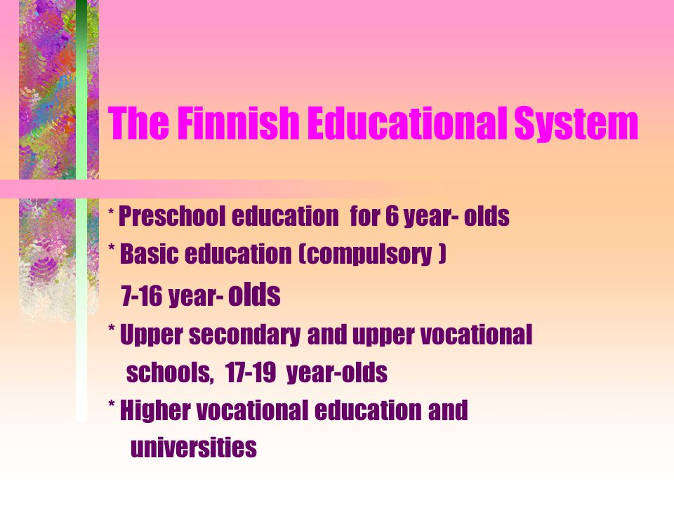 The Finnish Educational System