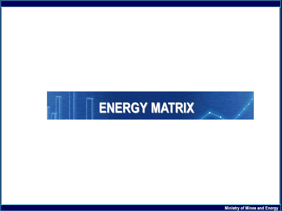 ENERGY MATRIX Ministry of Mines and Energy