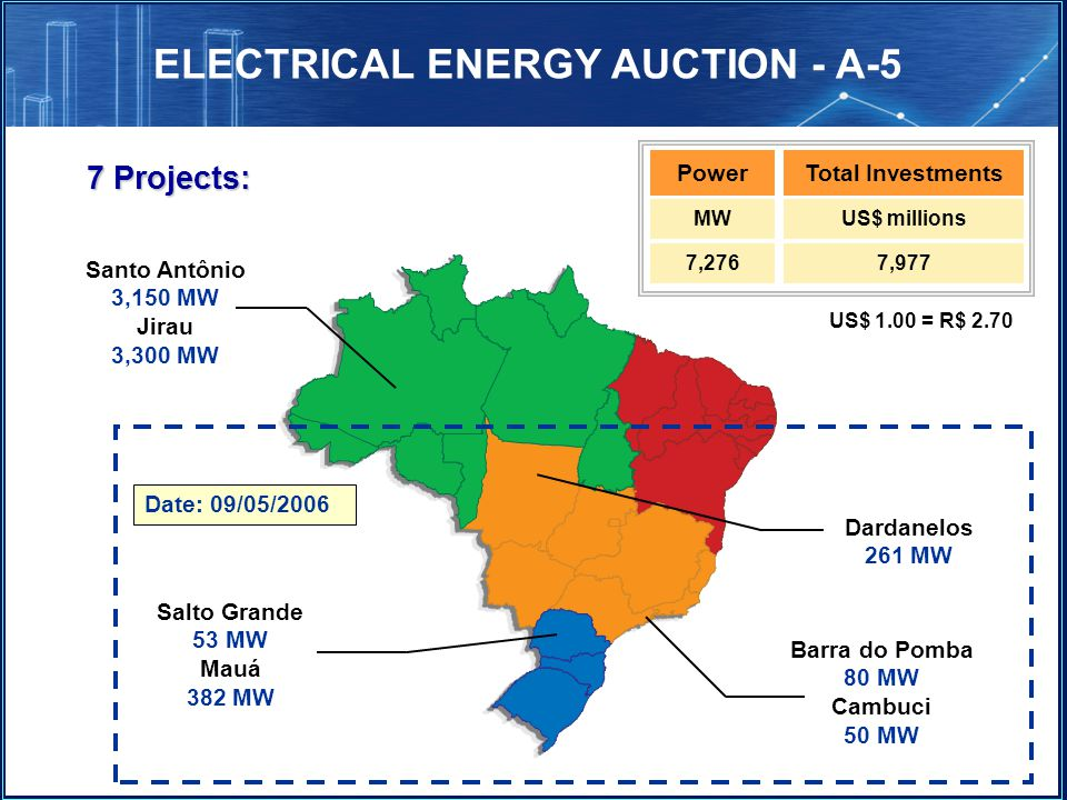 ELECTRICAL ENERGY AUCTION - A-5