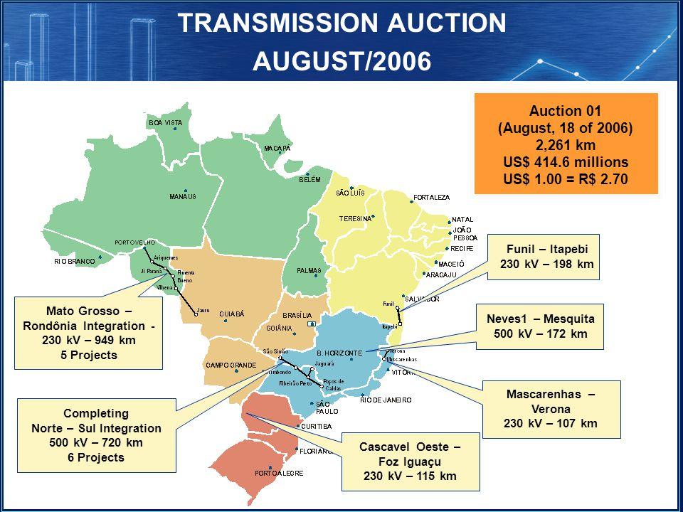 TRANSMISSION AUCTION AUGUST/2006