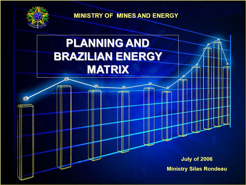 PLANNING AND BRAZILIAN ENERGY MATRIX