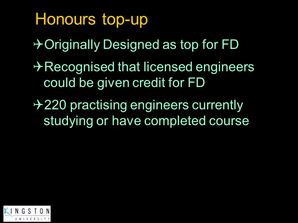 Honours top-up Originally Designed as top for FD