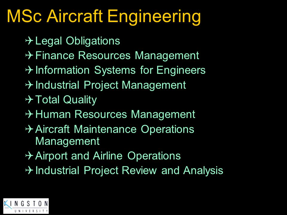 MSc Aircraft Engineering