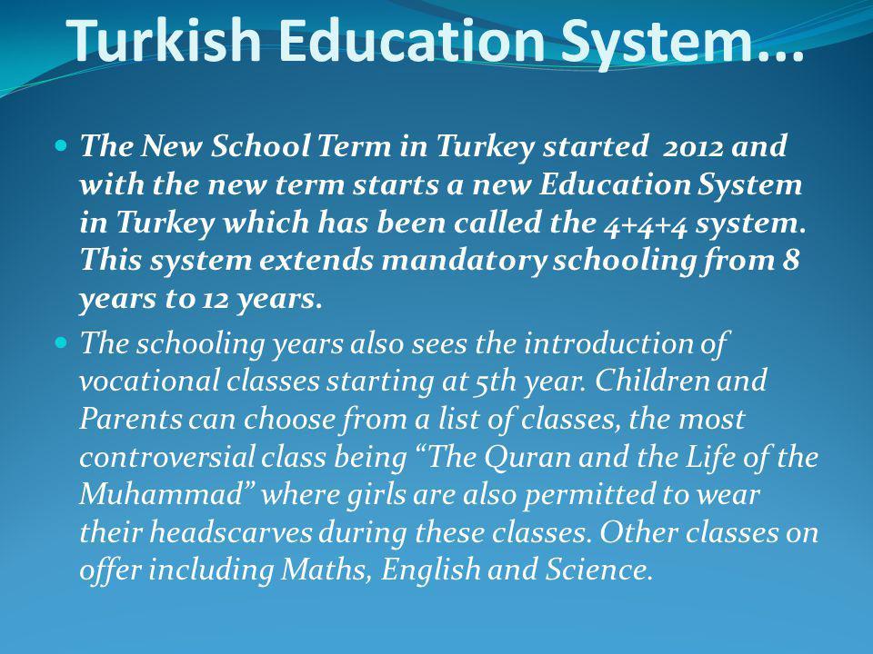 Turkish Education System...
