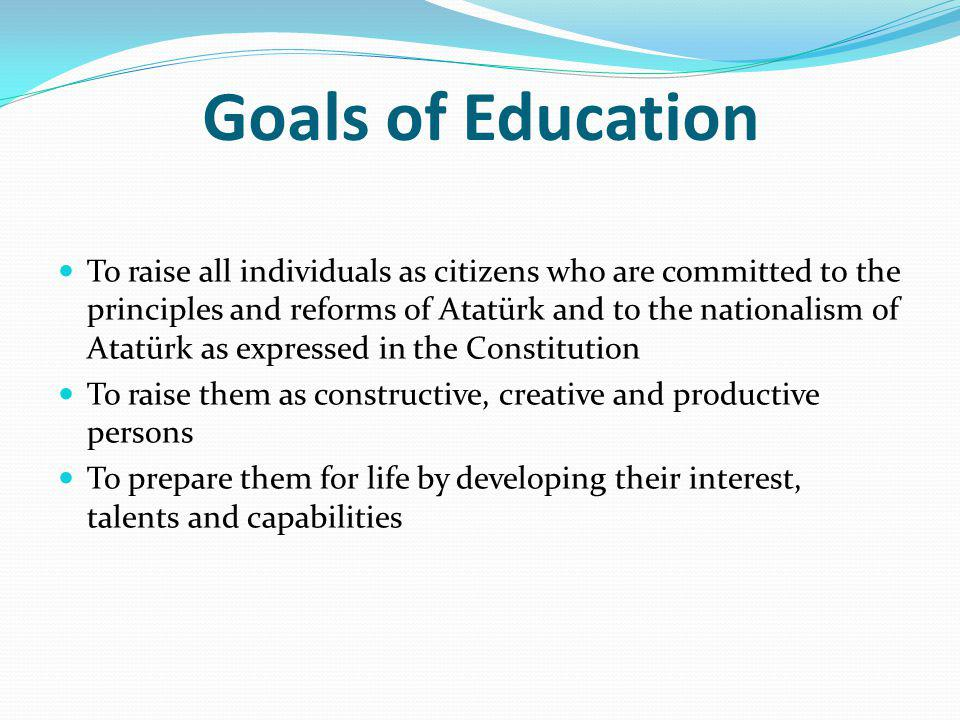Goals of Education