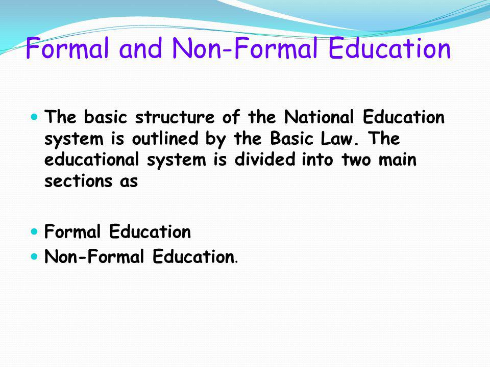 Formal and Non-Formal Education