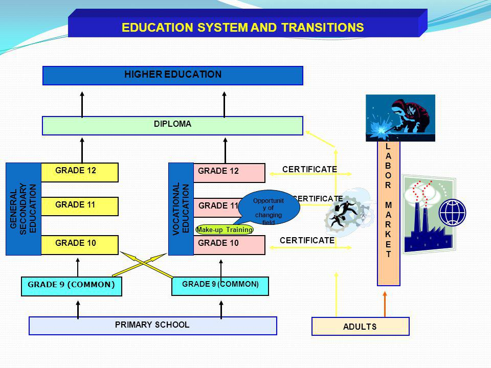 EDUCATION SYSTEM AND TRANSITIONS