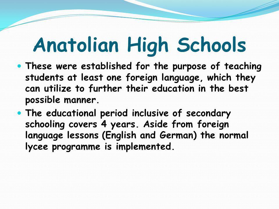 Anatolian High Schools