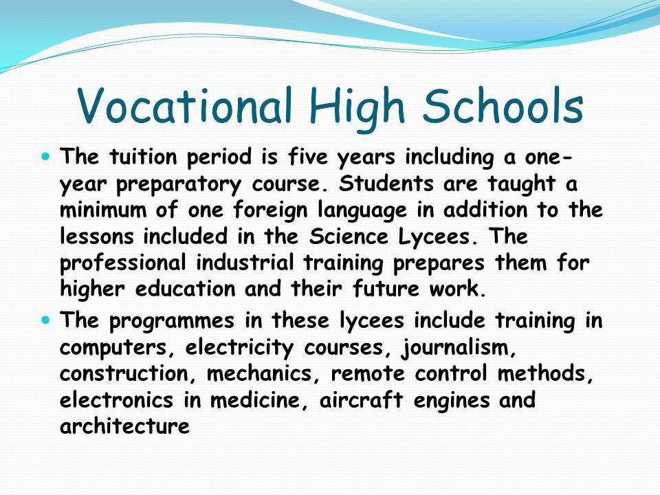 Vocational High Schools