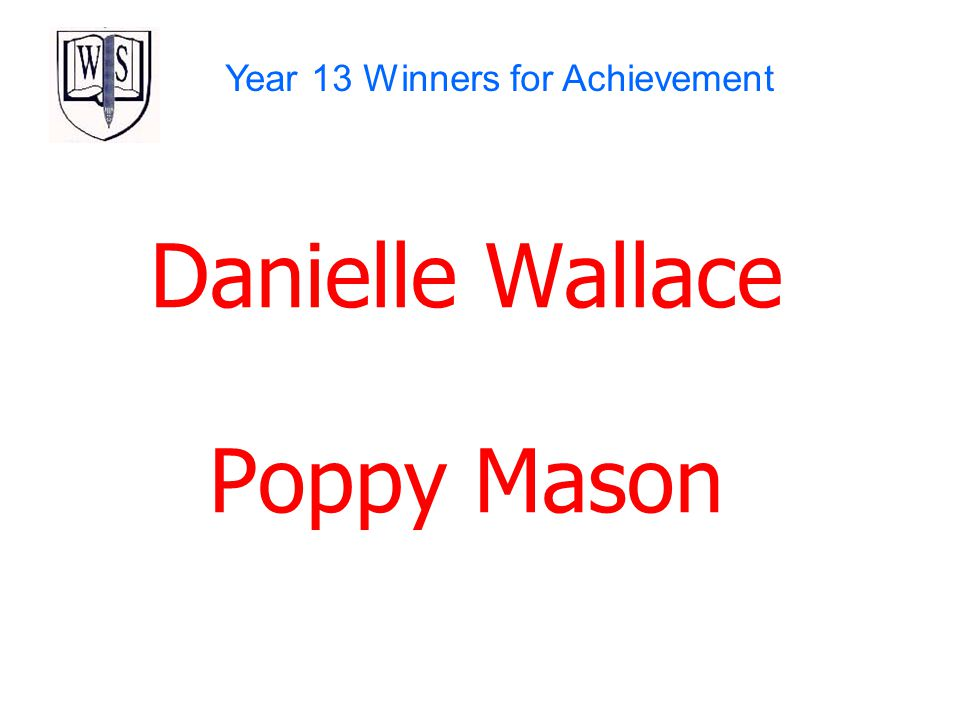 Year 13 Winners for Achievement
