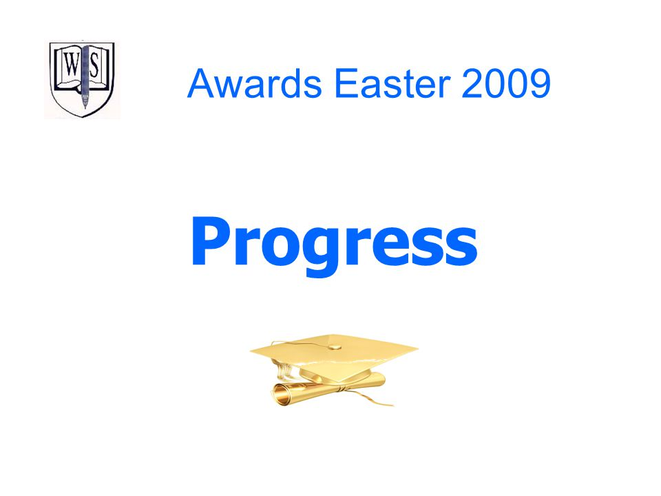 Awards Easter 2009 Progress