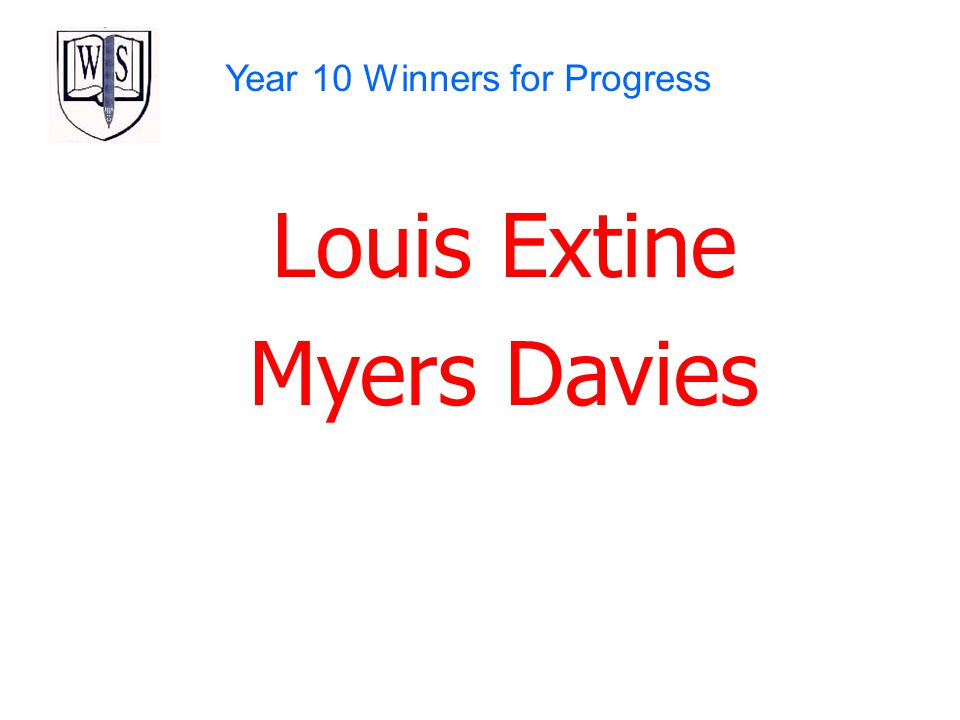 Year 10 Winners for Progress
