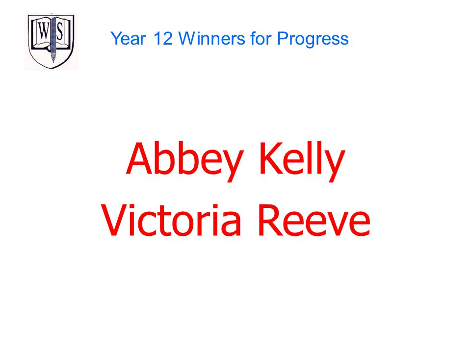 Year 12 Winners for Progress