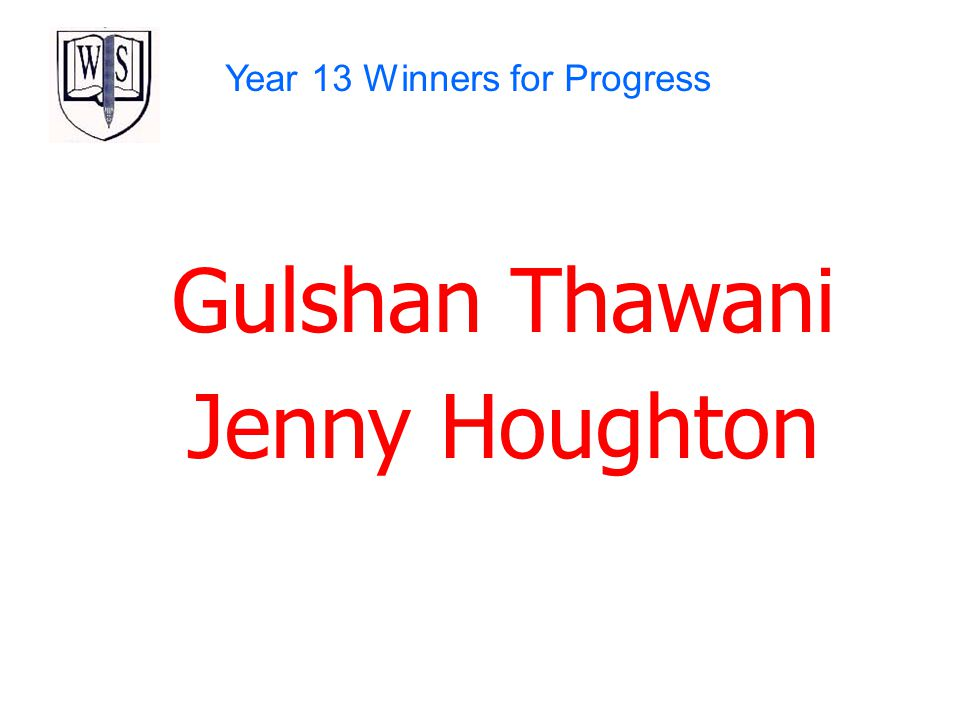Year 13 Winners for Progress
