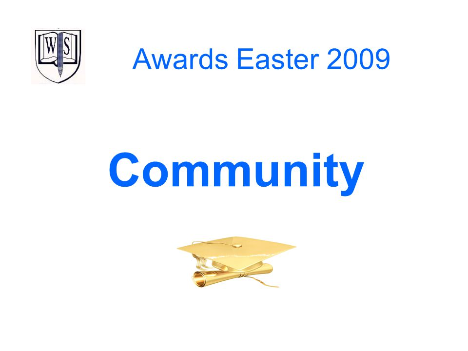 Awards Easter 2009 Community