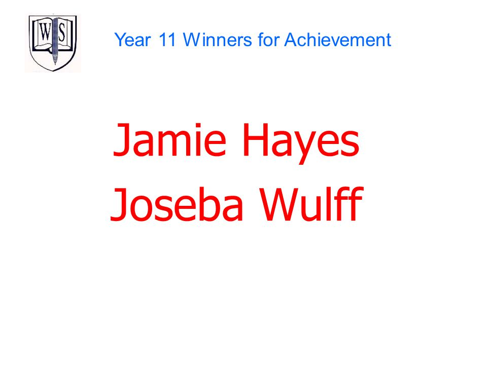 Year 11 Winners for Achievement