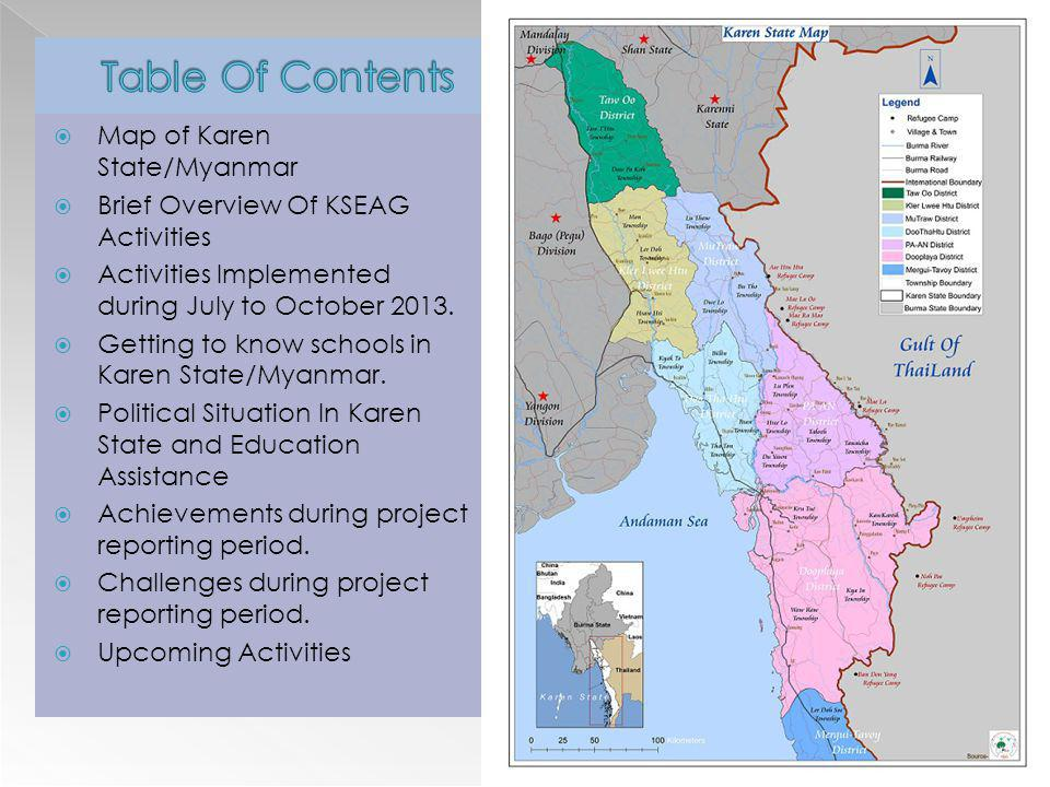 Table Of Contents Map of Karen State/Myanmar