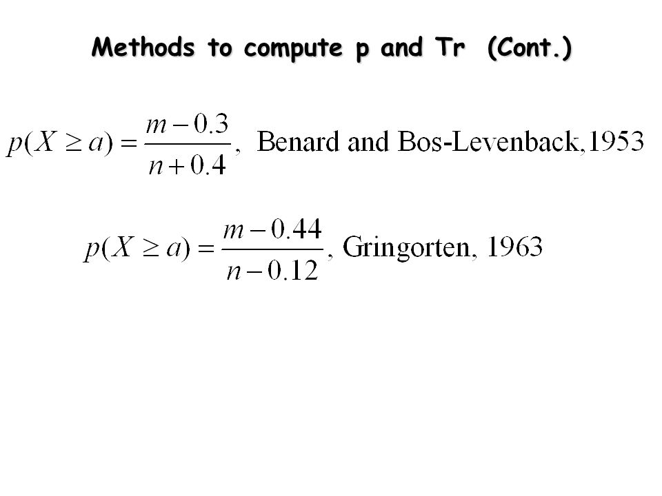 Methods to compute p and Tr (Cont.)