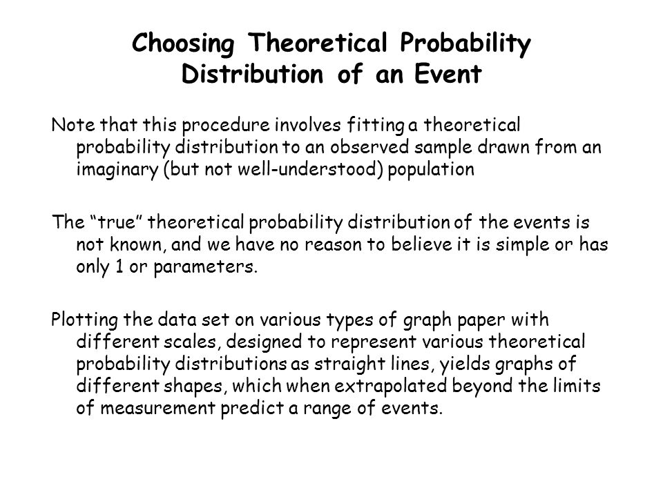 Choosing Theoretical Probability Distribution of an Event