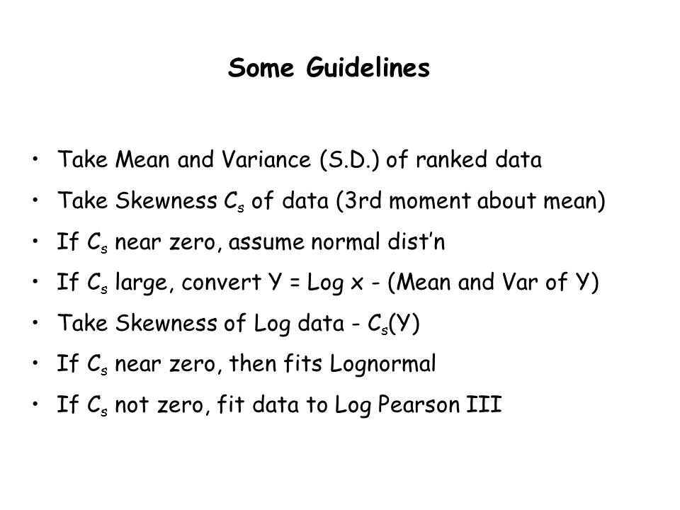 Some Guidelines Take Mean and Variance (S.D.) of ranked data