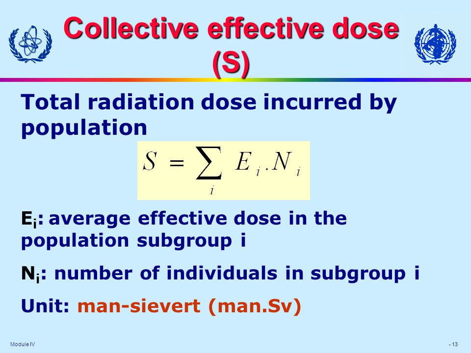 Collective effective dose (S)