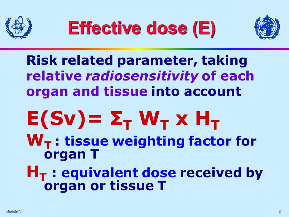 Module IV - Dose terms and units