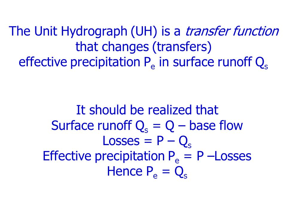 effective precipitation Pe in surface runoff Qs